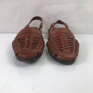 J.G. Hook Shoes - J. G. Hook Lorna Woven Sling back flat sandals 8M